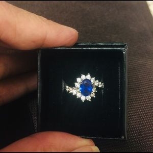 Blue Sapphire 925 Sterling Silver ring
